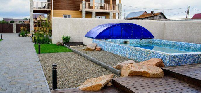 Снять коттедж с бассейном